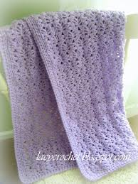 Lacy Baby Blanket Crochet Pattern