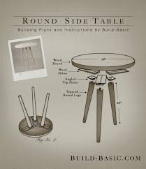 build a round side table building plans by buildbasic build basic