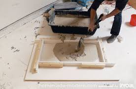 homemade modern diy ep15 concrete wood coffee table step 5