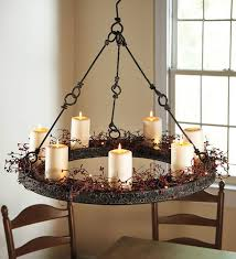 attractive rustic candle chandelier