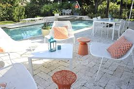 white outdoor furniture. view in gallery metal outdoor furniture white and orange patio chairs costco
