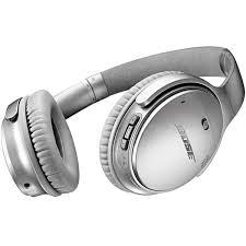 bose headphones bluetooth. bose quietcomfort 35 silver flat view headphones bluetooth n