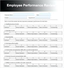 Annual Review Forms For Employees Sample Employee Evaluation Staff Review Form Template Short