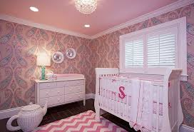 Captivating View In Gallery Nursery In Pink With Plenty Of Pattern [Design: B. Design /  Bracketing Photography