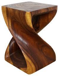 haussmann twist wood end table