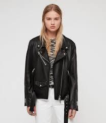 billie leather biker jacket