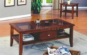 new brown cherry finish modern 3 pc coffee table set w drawer with inside sets drawers decor 8