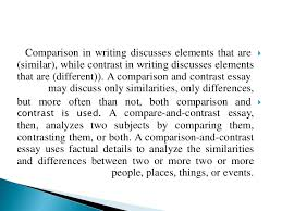 compare and contrast essay writing comparison and contrast 5