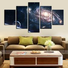 wall art for office space. HD Printed Abstract Space Galaxy Starry Sky Landscape Painting Oil Canvas For Home Decorations Wall Art Office L