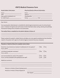 Sample Doctors Note For Surgery 15 Sample Medical Clearance Forms Dental Surgery