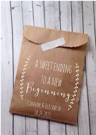 wedding cookie bags laurel rustic candy buffet sacks custom wedding favors 25 cake bags recycled brown paper personalized printed sack