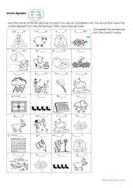 Each activity is focused on different common letter combinations, and great for kindergarten, 1st grade, or remedial… English Esl Digraphs Worksheets Most Downloaded 15 Results
