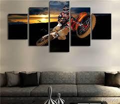 motocross supercross dirtbike air stunt multi panel canvas wall art on dirt bike wall art with motocross supercross dirtbike air stunt multi panel canvas wall art