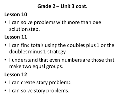 grade 2 unit 3 cont lesson 10 i can solve problems with more