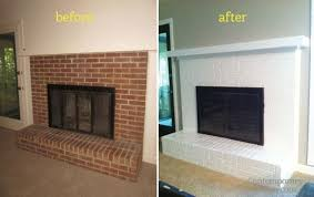 painting brick fireplace before after
