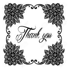 Thank You Black And White Printable Thank You Card Thanks Vector Isolated Hand Drawn Lettering