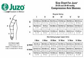 Juzo Size Chart Juzo Expert 20 30 Mmhg Soft Compression Arm Sleeve 2001cg