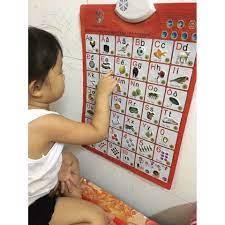 Bảng chữ cái tập nói cho bé, Bảng chữ số và chữ cái tiếng Việt thông minh - Đồ  chơi sơ sinh