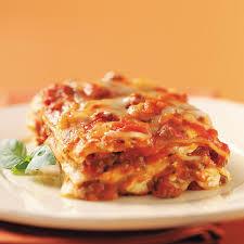 Classic Lasagne Cream Cheese And Swiss Lasagna Recipe Taste Of Home
