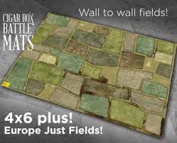 The battle mats from cigar box are made out of a thin fleece material. Cigar Box Battle Lay Down Gaming Mats For Waterloo More Ontabletop Home Of Beasts Of War