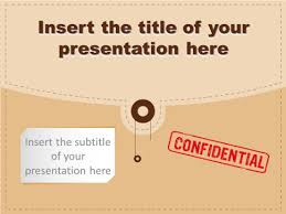 Confidential Folder Template For Powerpoint And Impress