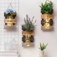 Vase <b>Pastoral Hydroponic Plant</b> Glass Wall Hanging <b>Decoration</b> ...