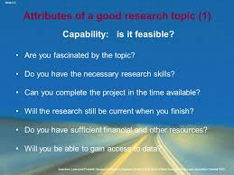 chapter formulating and clarifying the research topic ppt attributes of a good research topic 1