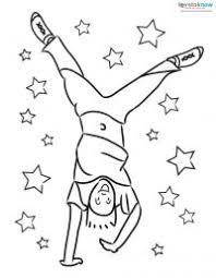 Small Picture Children Doing Cartwheels Coloring Pages