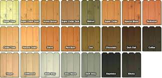 Interior Wood Stain Color Chart Denisecailles Co