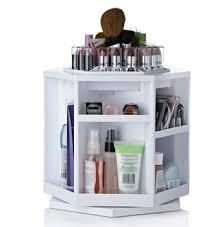 new tabletop spinning cosmetic case makeup organizer lori greiner
