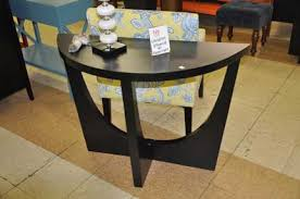 Contemporary Black Half Moon Console Table Modern Shop Checkouts In Inspiration Decorating
