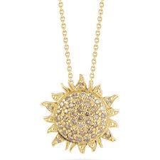 roberto coin 000953aychbd sun necklace
