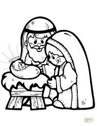 Nativity Coloring Pages Printable Christmas Manger Littledelhisfus