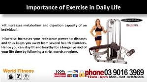 Importance of exercise at home gym - www.worldfitness.com.au