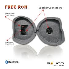 outdoor bluetooth rock speakers. outdoor rock speakers with bluetooth - free rok grey slate 0
