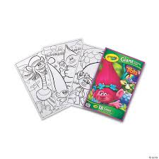 Thanksgiving turkey cartoon on crayola.com. Crayola Giant Coloring Pages Trolls Pack Of 3 Oriental Trading