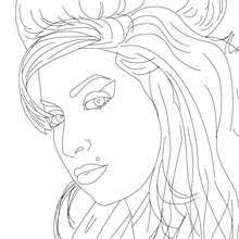 Amy Winehouse British Singer Coloring Pages Hellokidscom