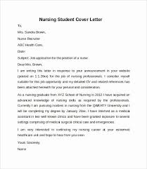 Cover Letter Examples For Students Awesome 10 Sample Nursing