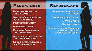 Federalists And Democratic Republicans