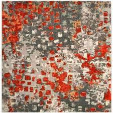 square area rug orange and gray area rug gray orange 7 ft square area rug light