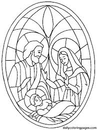 Small Picture Nativity Coloring Page use for stain glass Arts Crafts