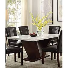 brilliant ideas white marble dining room tables acme furniture acme 72120 forbes white marble dining table