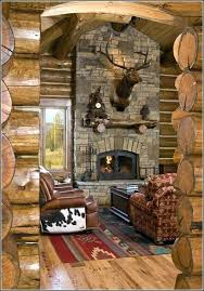 log cabin fireplace mantel ideas wood carved mantels impressive cabins large faux deer head wall mount log fireplace mantels