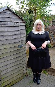 plus size wednesday addams costume im not perky the scarlett jo crochet collar dress crochet