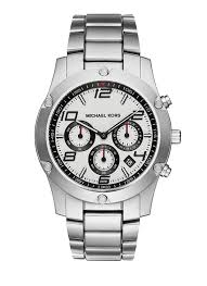 new michael kors mk8472 men 039 s caine silver stainless steel 796483239951