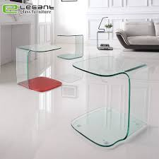 china small bent glass side table sets