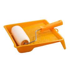 Набор <b>KORVUS</b>: <b>валик</b> 18 см поролон с <b>ручкой</b> и ванночкой