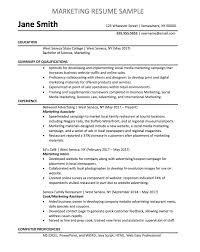 Marketing Resume Sample Impressive Marketing Associate Resume Sample Chegg CareerMatch