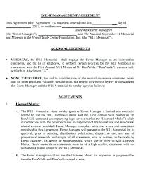 Restaurant Management Agreement Template Event Contract Hotel Form ...