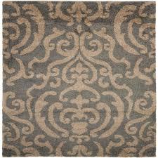 safavieh florida gray beige 7 ft x 7 ft square area rug